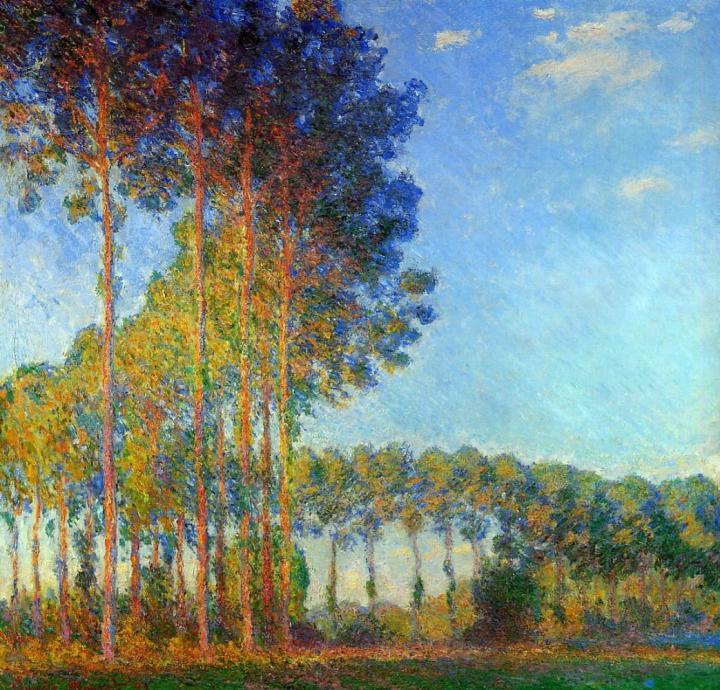 Тополя на берегу реки Эпт :: Клод Моне - Claude Monet фото