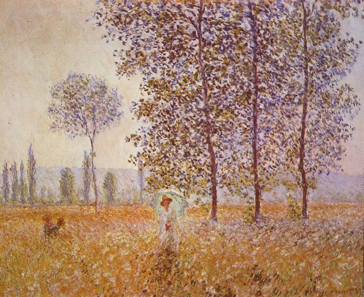 Тополя в солнечном свете :: Клод Моне - Claude Monet фото