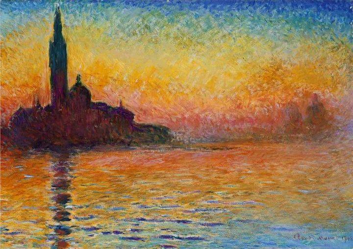 Закат в Венеции :: Клод Моне - Claude Monet фото