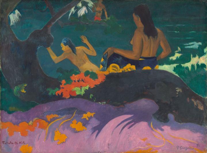 картина Возле моря (Fatata te miti) :: Поль Гоген - Paul Gauguin фото