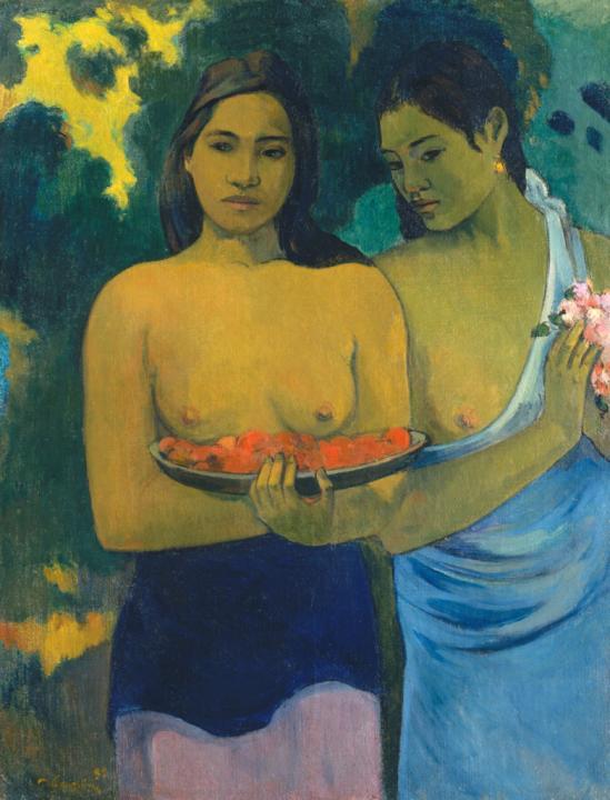 картина Две таитянки :: Поль Гоген - Paul Gauguin фото