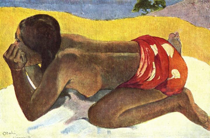 Таитянка на берегу - Только взгляни :: Поль Гоген - Paul Gauguin фото