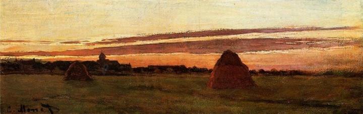картина Стога в Шайи ( Шайли ) :: Клод Моне - Claude Monet фото