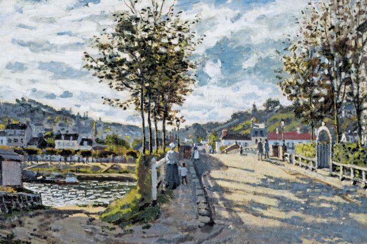 пейзаж Сена возле Буживаля :: Клод Моне - Claude Monet фото