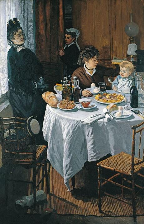 Завтрак :: Клод Моне, описание картины  - Claude Monet фото