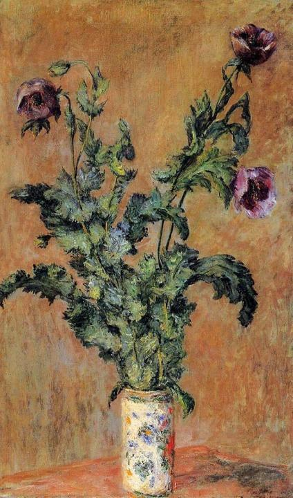 натюрморт Фиолетовые маки :: Клод Моне - Claude Monet фото