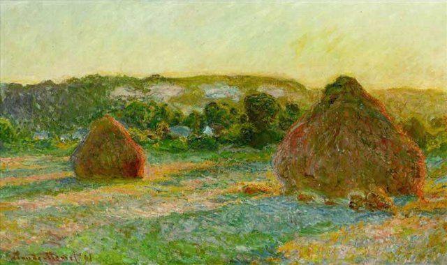 Стога сена. Конец лета 1890 года :: Клод Моне ( Франция ) - Claude Monet фото
