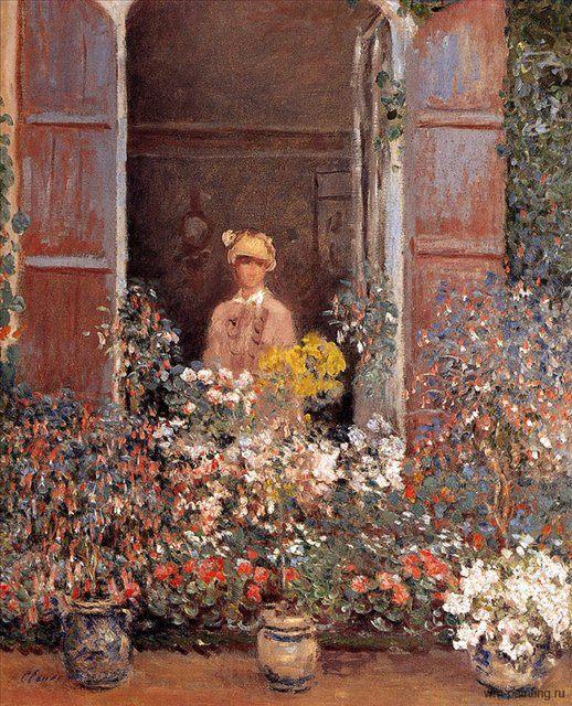 Камилла у окна ( Camille Monet at the Window ) :: Клод Моне - Claude Monet фото