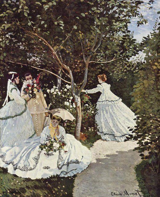Женщины в саду :: Клод Моне, описание картины  - Claude Monet фото