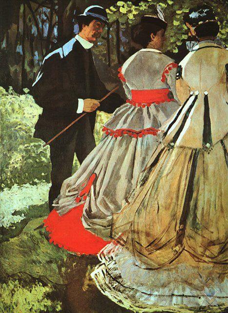 картина Пикник :: Клод Моне - Claude Monet фото