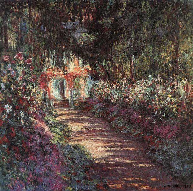 Сад в цвету ( дорога в саду ) :: Моне Клод - Claude Monet фото