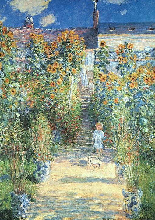 пейзаж < Сад Моне в Ветейе >:: Клод Моне, описание картины - Claude Monet фото