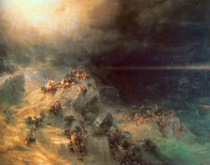 Всемирный потоп :: Айвазовский И.К., описание картины - Aivazovsky, Ivan Constantinovich фото