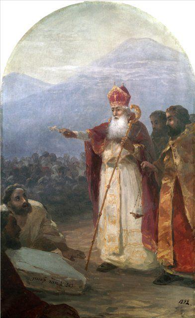 Крещение армянского народа Григорий Просветитель (IV в.) ::  Айвазовский И.К. - Aivazovsky, Ivan Constantinovich фото