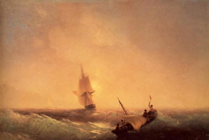 открытое море в морских пейзажах Айвазовского И.К. - Aivazovsky, Ivan Constantinovich фото