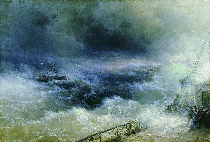 картина Океан :: Айвазовский И.К., описание картины - Aivazovsky, Ivan Constantinovich фото
