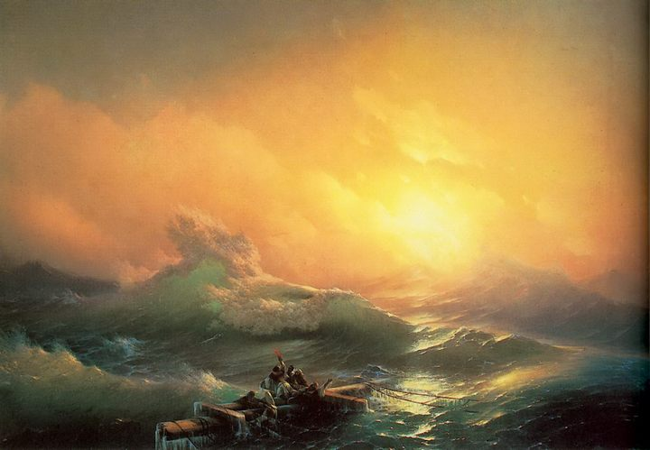 морской пейзаж Девятый вал :: Айвазовский И.К., описание картины - Aivazovsky, Ivan Constantinovich фото