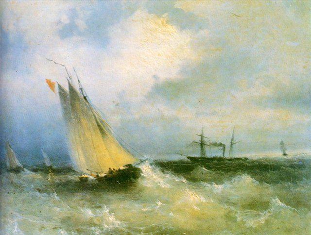 Марина :: Айвазовский И.К., картина морской пейзаж, плюс статья про подарки - Aivazovsky, Ivan Constantinovich фото