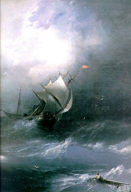 картина маринистика Буря на ледовитом океане :: Айвазовский И.К., плюс статья про подарки - Aivazovsky, Ivan Constantinovich фото
