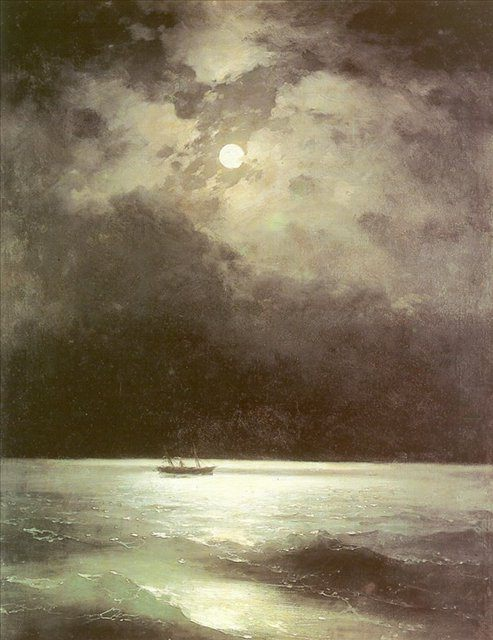 Черное море ночью :: Айвазовский И.К., описание картины  - Aivazovsky, Ivan Constantinovich фото