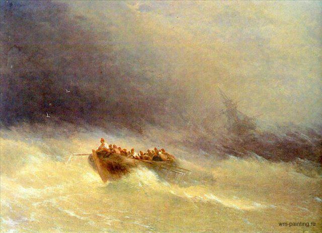картина Кораблекрушение :: Айвазовский И.К. - Aivazovsky, Ivan Constantinovich фото