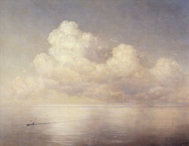 картина  Облака над морем, штиль :: Айвазовский И.К. - Aivazovsky, Ivan Constantinovich фото
