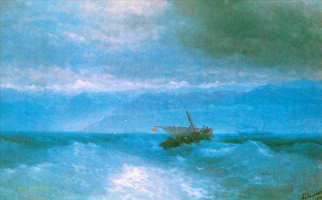 Кавказские горы с моря :: Айвазовский Иван Константинович, картина - Aivazovsky, Ivan Constantinovich фото