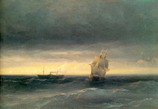 Море :: Айвазовский И.К., описание картины - Aivazovsky, Ivan Constantinovich фото