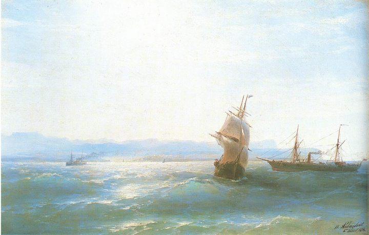 Солнечный день (морской пейзаж):: Айвазовский И.К., описание картины - Aivazovsky, Ivan Constantinovich фото