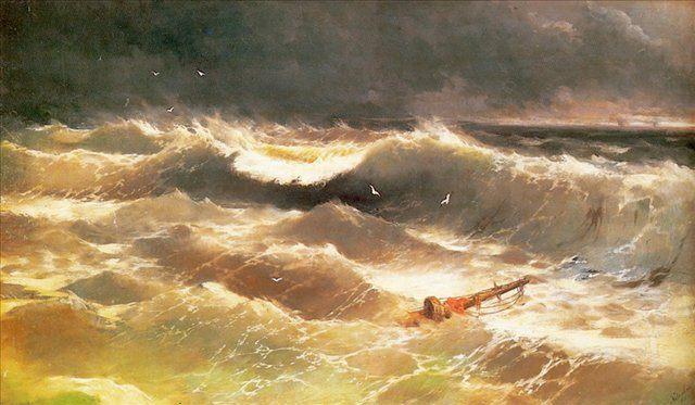 Буря, описание картины, художник Айвазовский И.К. - Aivazovsky, Ivan Constantinovich фото
