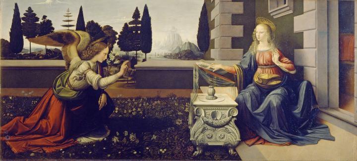 Благовещение :: Леонардо да Винчи - da Vinci Leonardo фото