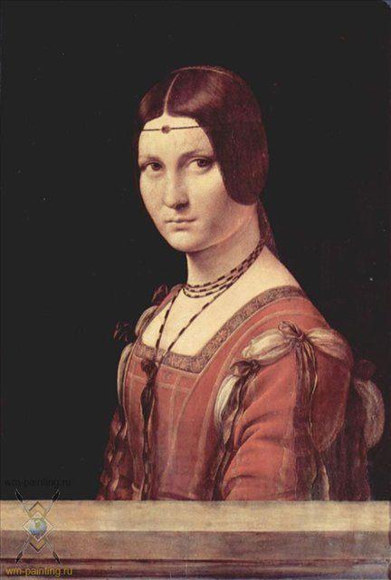 Портрет молодой женщины :: Леонардо да Винчи - da Vinci Leonardo фото