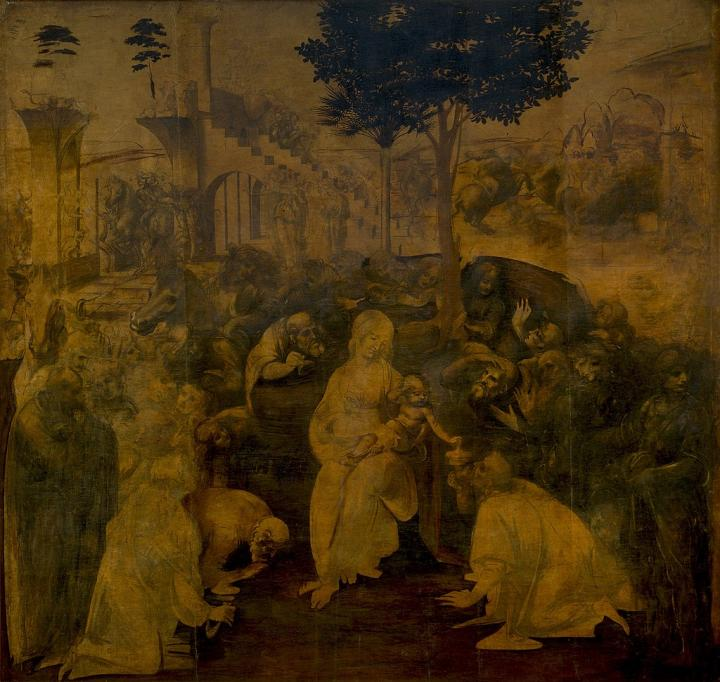 Поклонение волхвов :: Леонардо да Винчи - da Vinci Leonardo фото