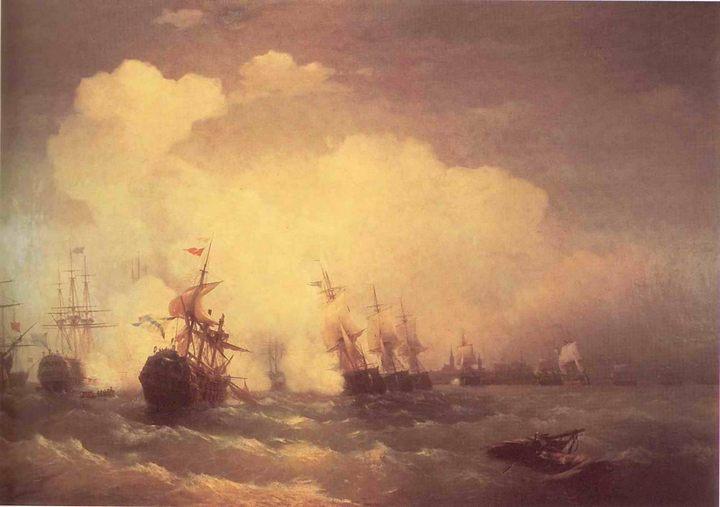 батальные картины Айвазовского [ Морское сражение при Ревеле (9 мая 1790) ] :: Айвазовский И.К. - Aivazovsky, Ivan Constantinovich фото