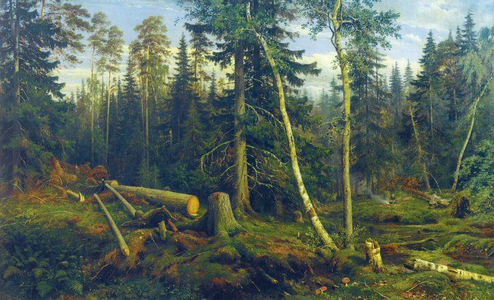 Рубка леса :: Шишкин И.И. - Шишкин Иван ( Ivan Shishkin ) фото