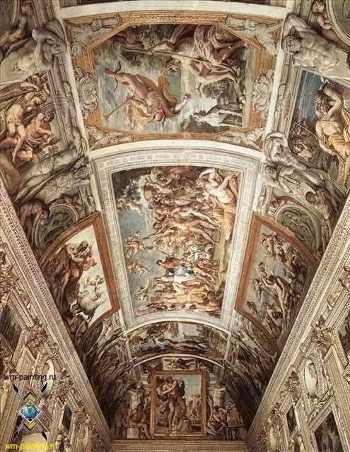 Потолочные фрески, плюс статья Путешествуя по музеям Рима  - Фрески, монументальная живопись, роспись стен фото