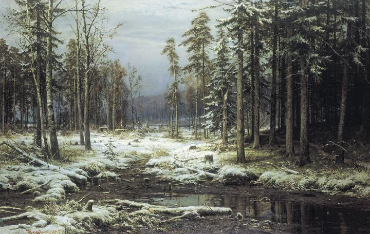 Первый снег :: Шишкин И.И., описание картины - Ivan Shishkin фото