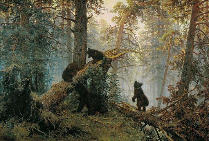 Утро в сосновом лесу :: Шишкин И.И. описание картины - Ivan Shishkin фото