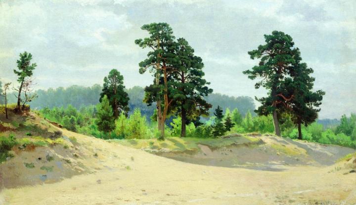 Опушка леса :: Шишкин И.И., описание картины - Ivan Shishkin фото