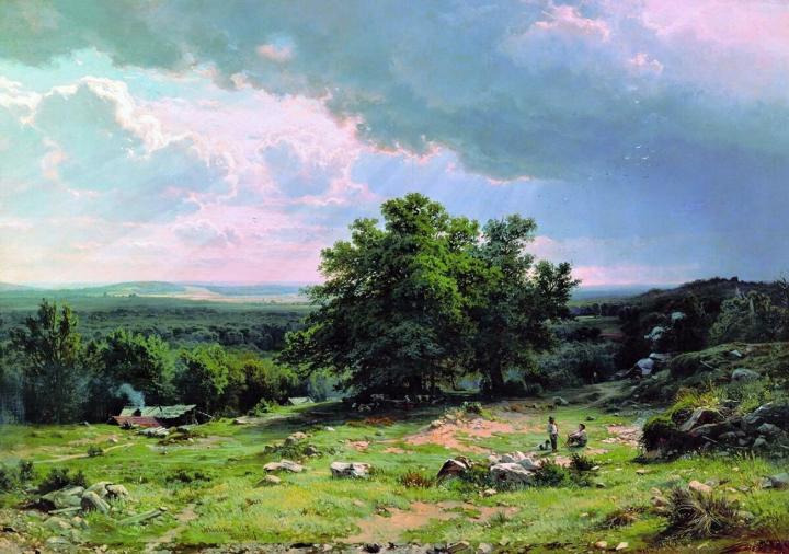 Вид в окрестностях Дюссельдорфа :: Шишкин И.И., описание картины - Ivan Shishkin фото