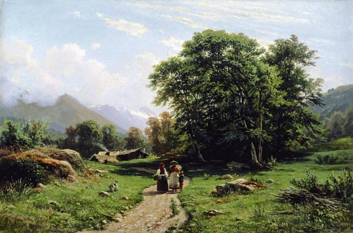 Швейцарский пейзаж :: Шишкин И.И., описание картины - Ivan Shishkin фото