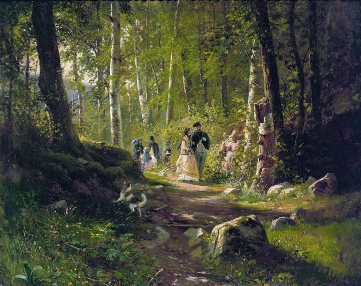 Прогулка в лесу :: Шишкин И.И., описание картины - Ivan Shishkin фото