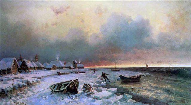 Деревня на острове Нарген :: Клевер Юлий Юльевич ( Clever Juliy ) - Klever Yuliy фото