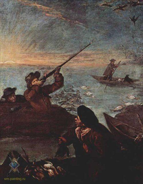 Цикл Охота на равнине. Стрелок в бочке :: Лонги Пьетро ( Италия ) - Жанровые сцены фото