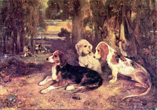 Охотничьи собаки :: Декан Александр-Габриель - Жанровые сцены фото