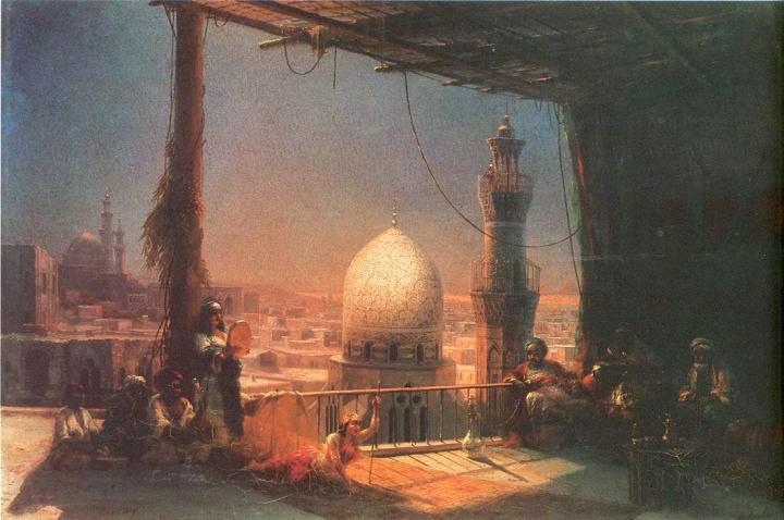 Сцены из каирской жизни ::  Айвазовский И.К. ( Ivan Constantinovich Aivazovsky ) [ Stages from a Cairo life ] - Арабский восток фото