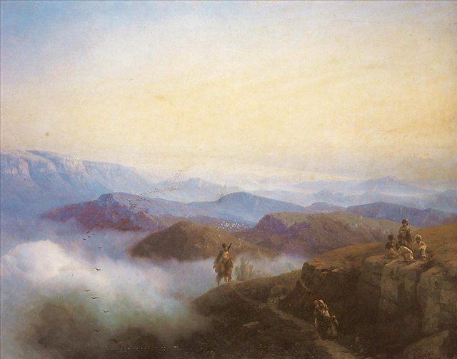Цепи Кавказских гор ::  Айвазовский И.К. ( Ivan Constantinovich Aivazovsky ) - Aivazovsky, Ivan Constantinovich фото