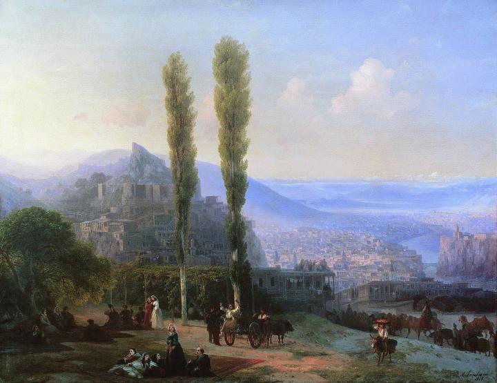 картина Вид Тифлиса :: Айвазовский И.К. - Aivazovsky, Ivan Constantinovich фото