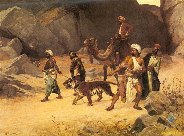 Пойманный тигр :: Рудольф Эрнст - Жанровые сцены фото