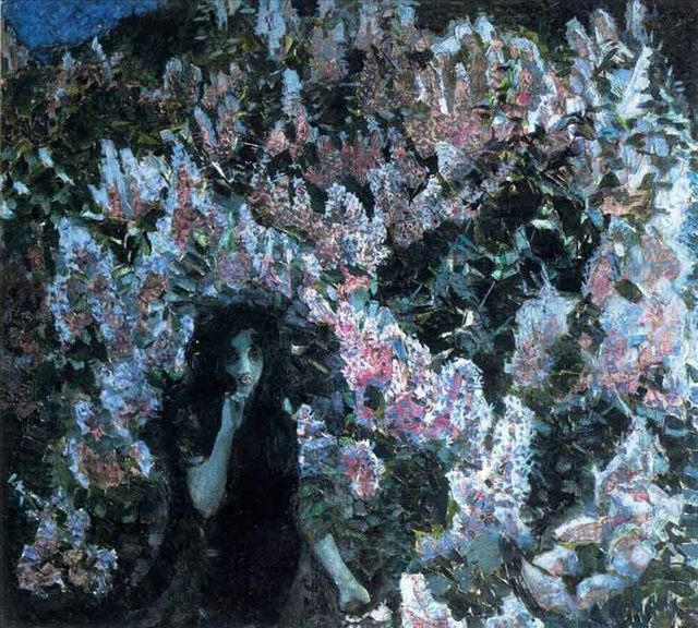 картина Сирень :: Врубель М.А., описание - Vrubel Michail фото